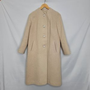 Cream Swing Vintage Mid Length Double lined Coat